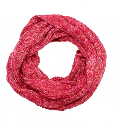 A photo of the Charming Cable Knit Infinity Pink product