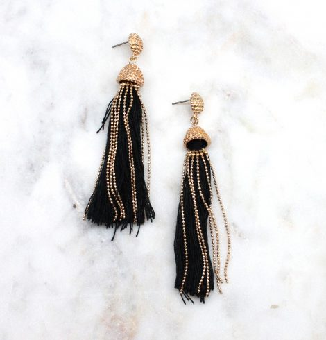 A photo of the Tasseled & Trending Earrings product
