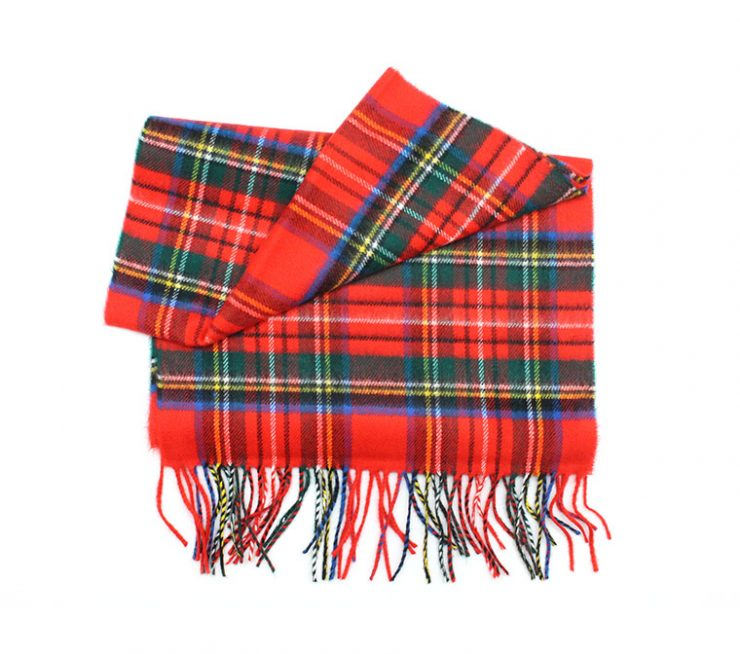 A photo of the Red Tartan Cashmere Feel Scarf product