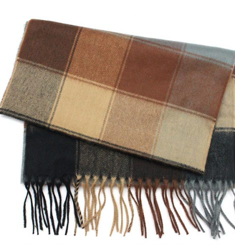 A photo of the Neutral Squares Scarf product