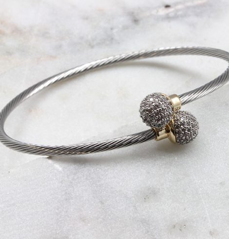 A photo of the Fireball Ends Cable Bracelet product