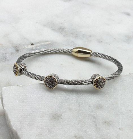 A photo of the Studded Cable Bracelet product