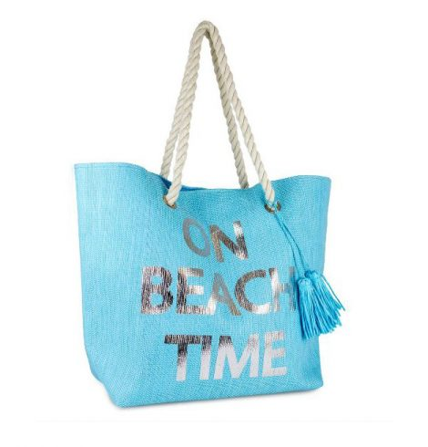 "A photo of the "" On Beach Time"" Tote product"