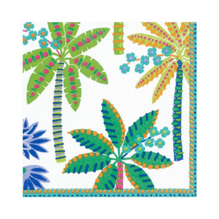A photo of the Paradise Palms Napkins (White) product