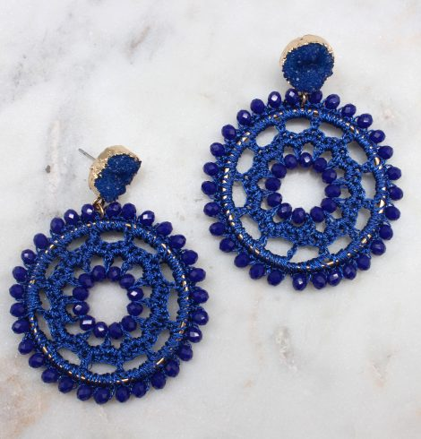 A photo of the Crochet Fashion Earrings product