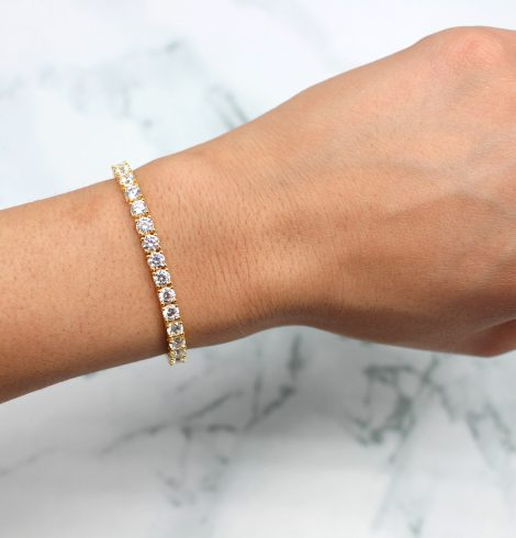 A photo of the Gold Plated Sterling Silver Adjustable Bracelet product
