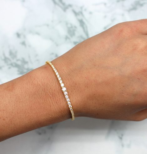 A photo of the Graduate Sterling Silver Gold Plated Adjustable Bracelet product