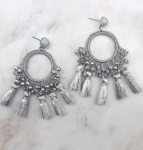 A photo of the Tassel Party Earrings product