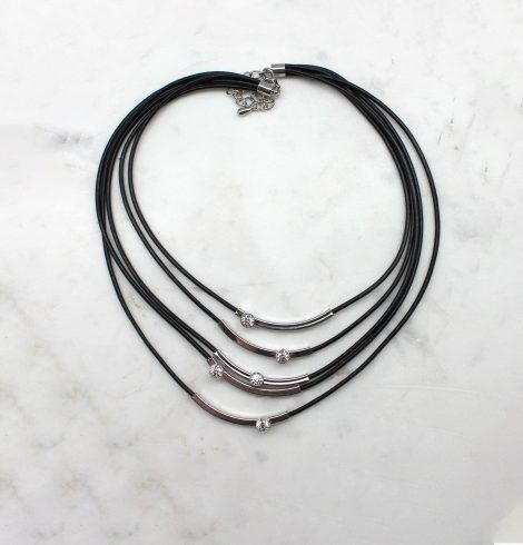 A photo of the Glitz and Glam Layered Cord Necklace product
