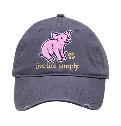 A photo of the Live Life Simply Piggy Baseball Cap product