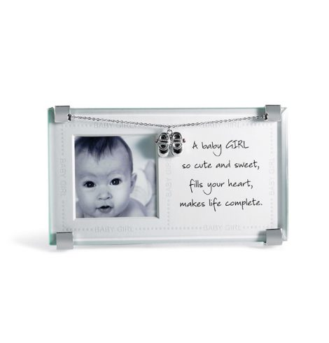 A photo of the New Baby Girl Frame product