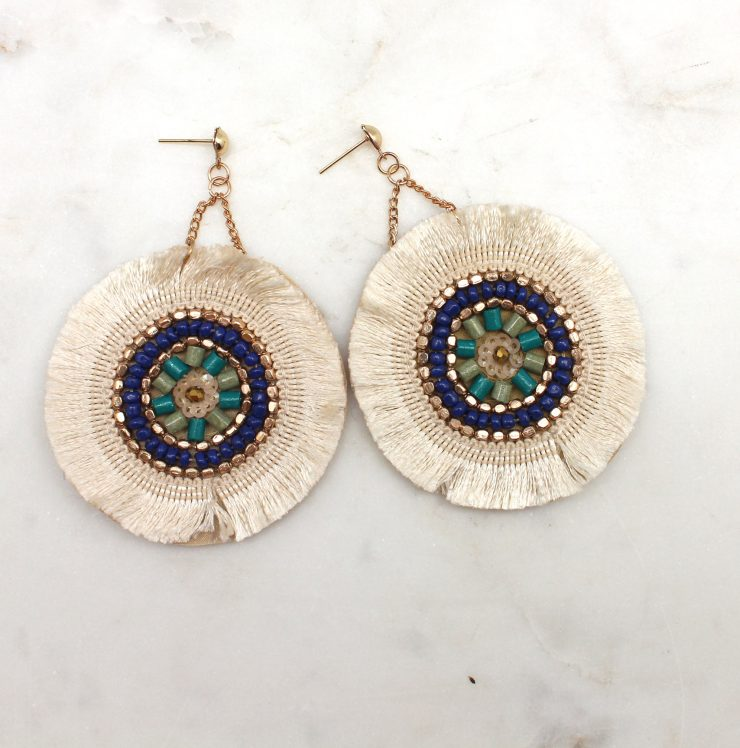 A photo of the Beaded To Perfection Earrings product