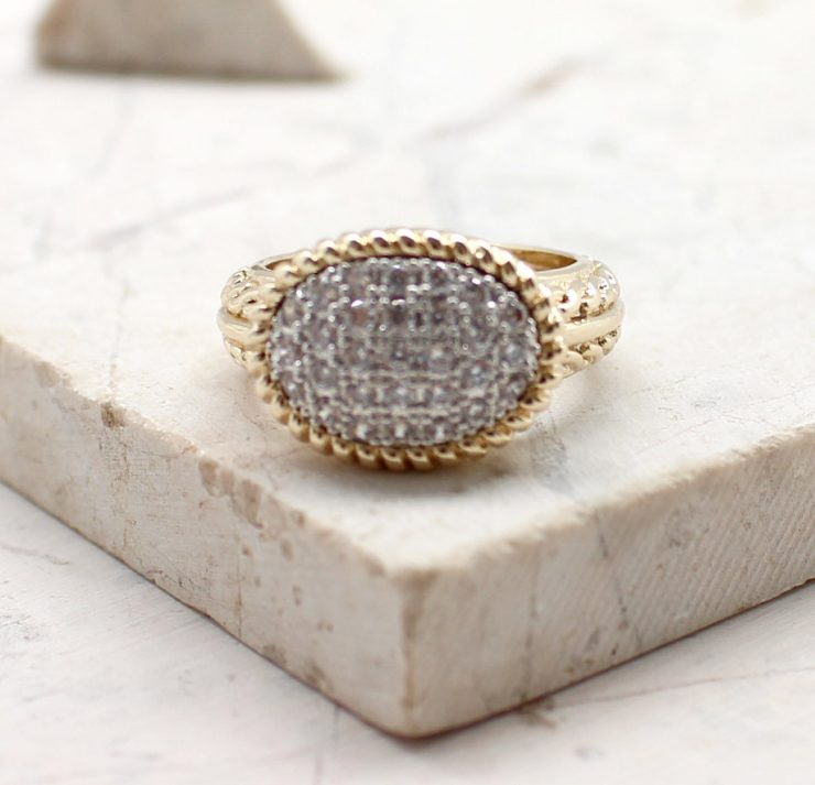 A photo of the Meant To Be Ring Oval product