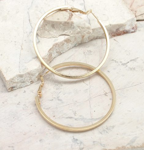 A photo of the Simply Classic Hoop Earrings product