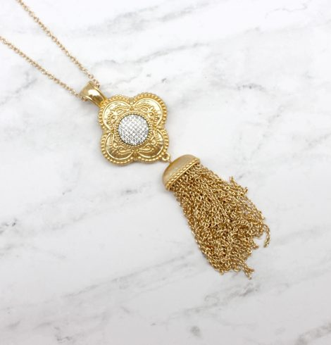 A photo of the Stepping It Up Necklace product