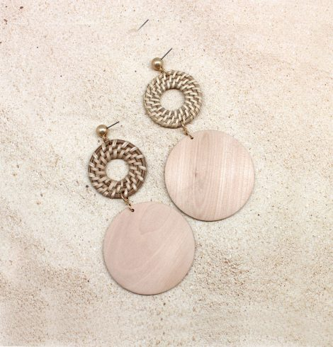 A photo of the Wood Love To See You Earrings product