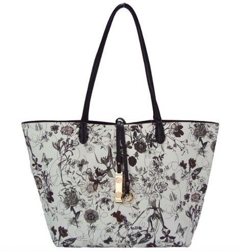 Tropical Garden & Turquoise Reversible Tote