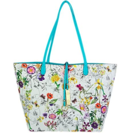 A photo of the Tropical Garden & Turquoise Reversible Tote product