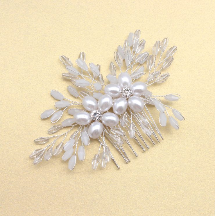 A photo of the Blushing Bride Hair Comb product