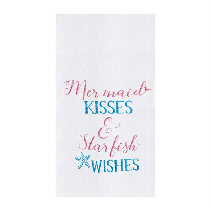A photo of the Mermaid Kisses Kitchen Towel product