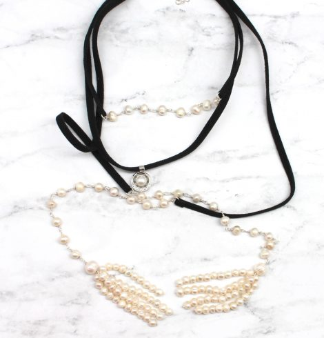 A photo of the Posh Pearl Choker product