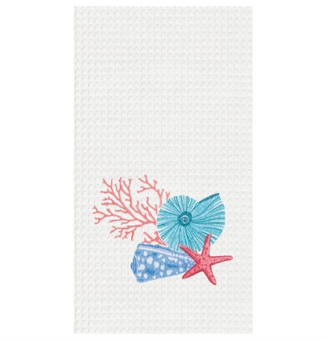 A photo of the Shell Motif Kitchen Towel product