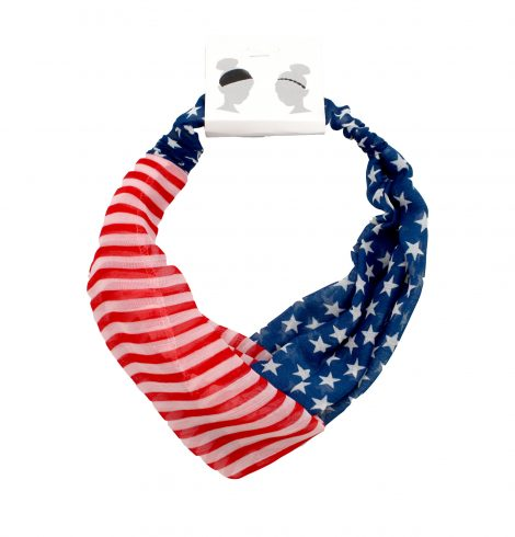 A photo of the Stretchy Flag Headband product