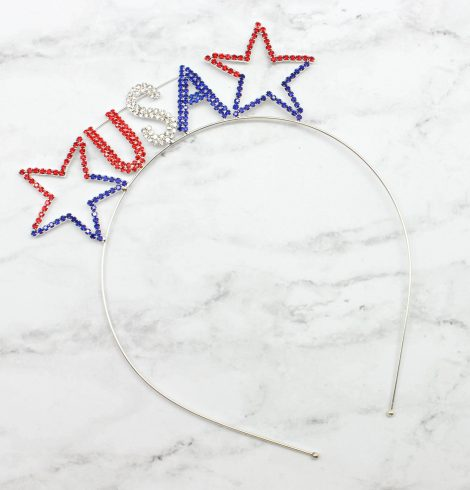 A photo of the The Good Ol' USA Stars Headband product