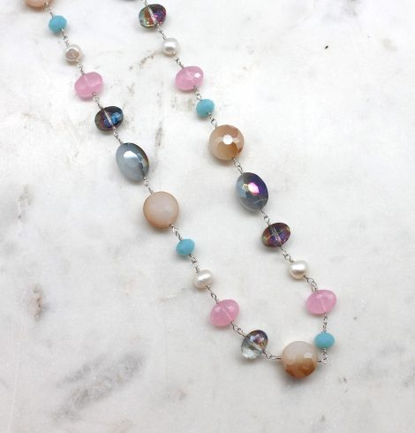 A photo of the The Perfect Mix Necklace product