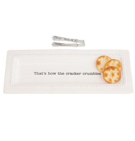 A photo of the Circa Cracker Dish & Tong Set product