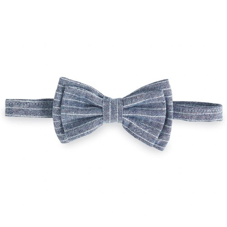 A photo of the Little Boys Chambray Bow Tie product