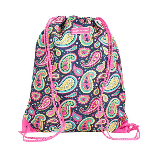 A photo of the Paisley Drawstring Backpack product