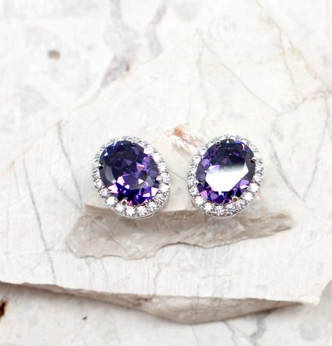 A photo of the Purple Passion Earrings product