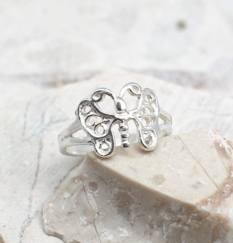 A photo of the The Butterfly Toe Ring product