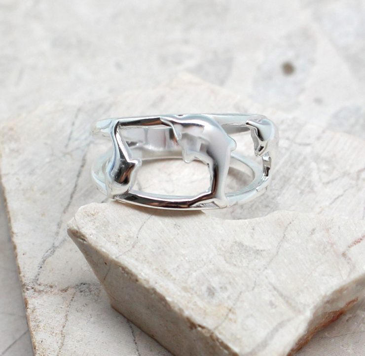 A photo of the The Dolphin Trio Ring product