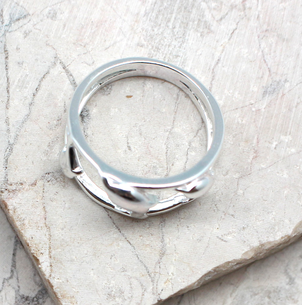 Details about  /Dolphin Trio Sterling Silver Band Ring