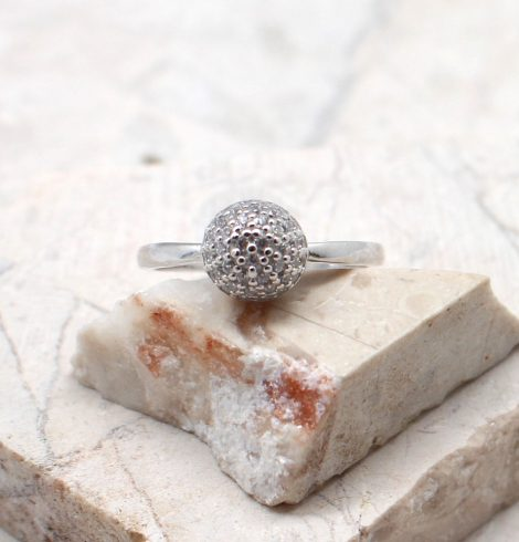A photo of the The Rhinestone Button Ring product