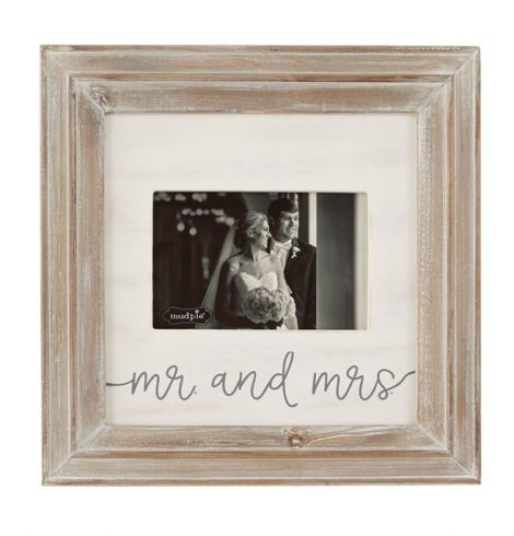 A photo of the Mr. And Mrs. Small Wood Picture Frame product