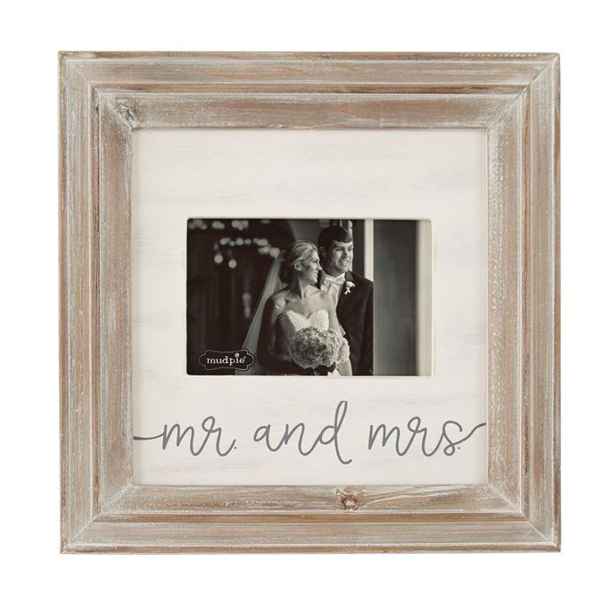 Mr And Mrs Small Wood Picture Frame Best Of Everything Online