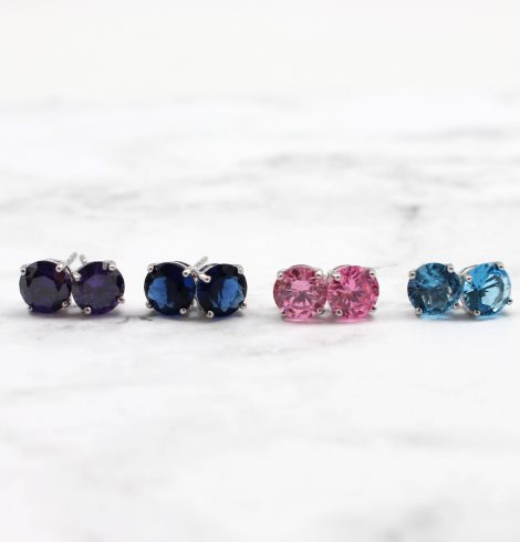 A photo of the Colorful CZ Studs product
