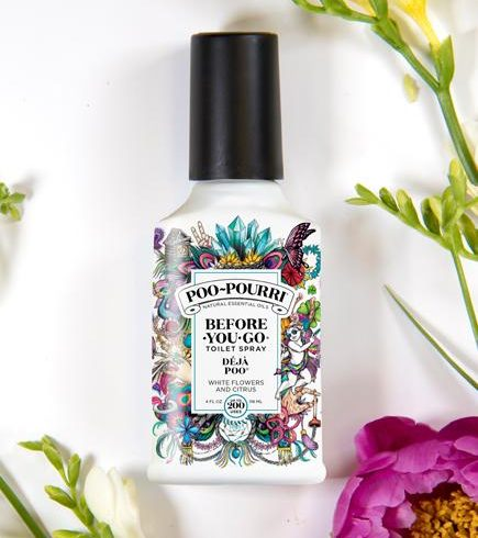 A photo of the Deja Poo Poo-Pourri product