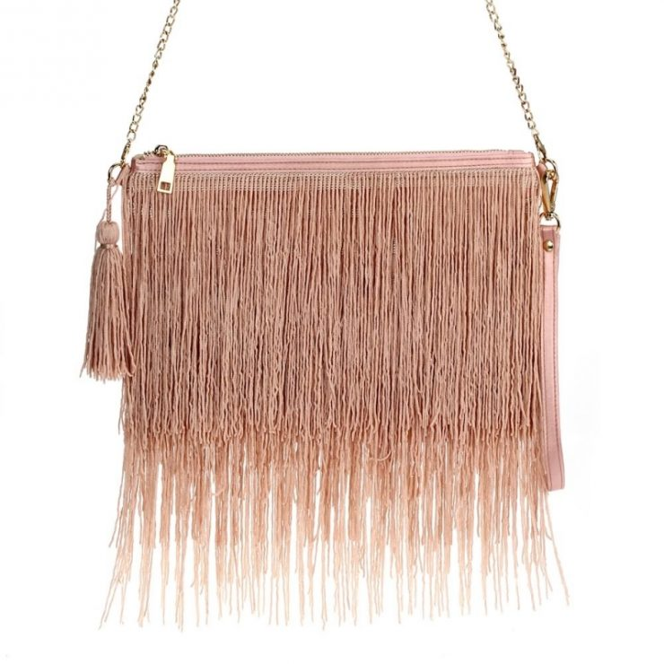 A photo of the Fab Fringe Bag Pink product