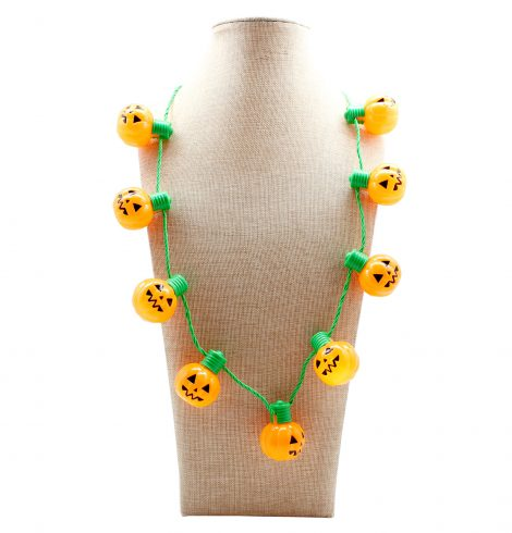 A photo of the Light Up Jack-O-Lantern Necklace product