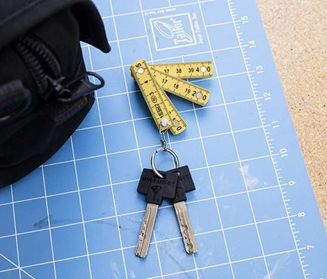 A photo of the Mini Folding Ruler Keyring product