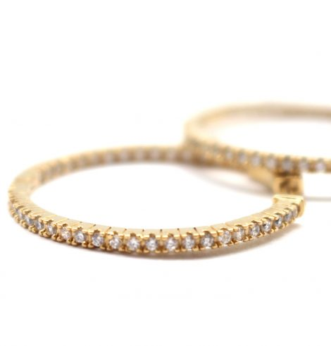 A photo of the Simple Gold CZ Hoops product