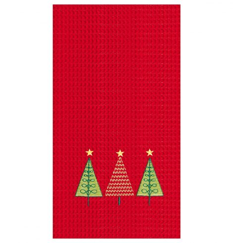 A photo of the Triple Christmas Tree Towel product