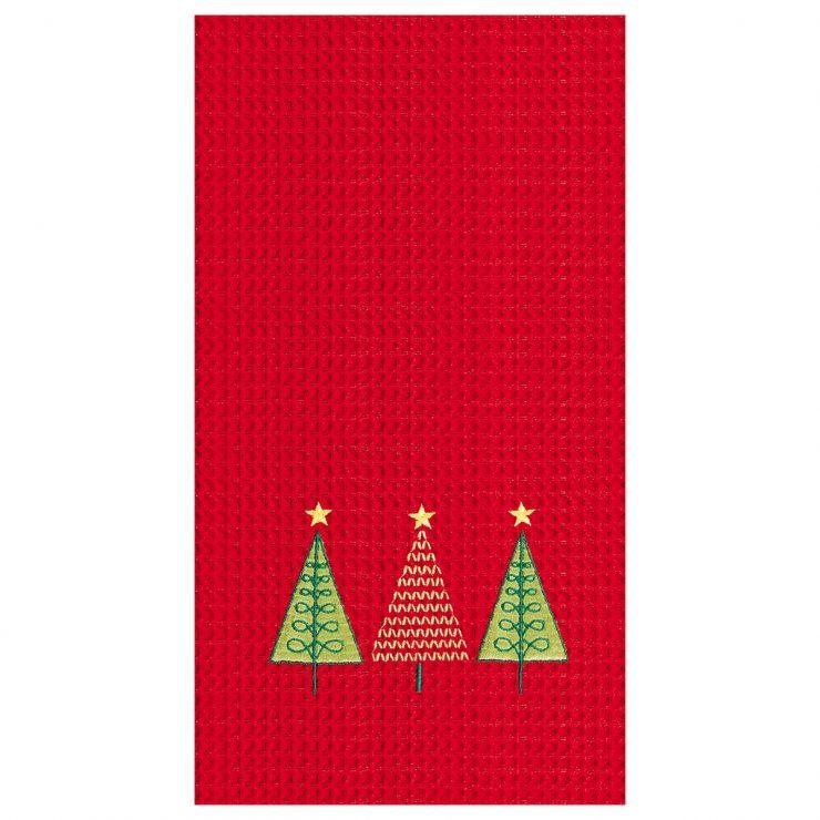 A photo of the Triple Christmas Tree Towel product