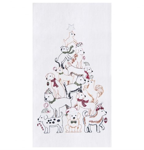 A photo of the Dog Christmas Tree Towel product