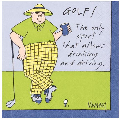 A photo of the Drinking And Driving Golf Napkins product