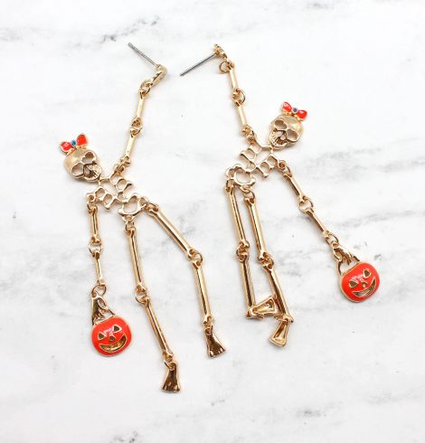 A photo of the Skeleton Earrings In Gold product